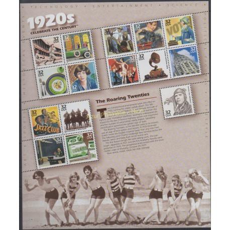 États-Unis - 1998 - No 2723/2737 - Histoire