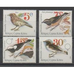 Chypre - 1991 - No 772/775 - Oiseaux