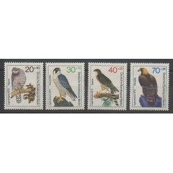 West Germany (FRG - Berlin) - 1973 - Nb 407/410 - Owls