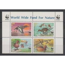 Azerbaïdjan - 2000 - No 395/398 - Oiseaux