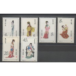 Chine - 1981 - No 2482/2487 - Costumes Uniformes