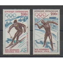 Central African Republic - 1968 - Nb 57/58 - Winter Olympics