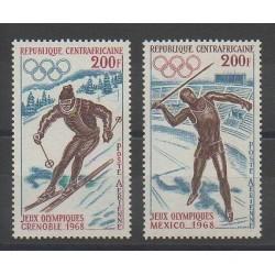 Centrafricaine (République) - 1968 - No 57/58 - Jeux olympiques