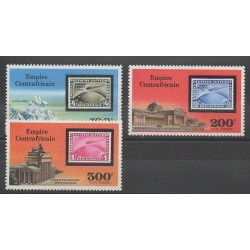Central African Republic - 1977 - Nb PA167/PA169 - Stamps on stamps
