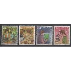Suisse - 1989 - No 1333/1336 - Enfance
