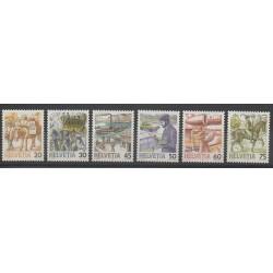 Swiss - 1987 - Nb 1264/1268 - 1313