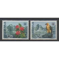 Yugoslavia - 1970 - Nb 1291/1292 - Owls