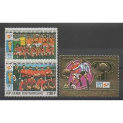 Central African Republic - 1981 - Nb PA234/PA236 - Soccer World Cup