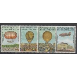 Centrafricaine (République) - 1983 - No PA272/PA275 - Ballons - Dirigeables