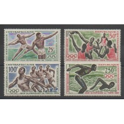 Central African Republic - 1964 - Nb PA22/PA25 - Summer Olympics