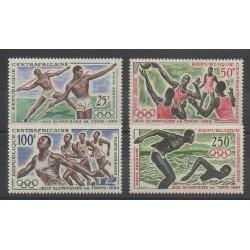 Centrafricaine (République) - 1964 - No PA22/PA25 - Jeux Olympiques d'été