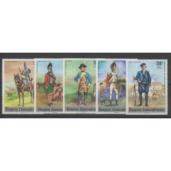 Centrafricaine (République) - 1977 - No PA170/PA174 - Histoire militaire