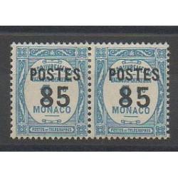Monaco - Variétés - 1937 - No 149a - Attenant à normal - Neuf avec charnière