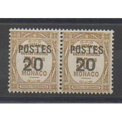 Monaco - Variétés - 1937 - No 143a - Attenant à normal - Charnière légère