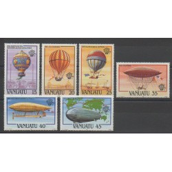Vanuatu - 1983 - Nb 676/681 - Hot-air balloons - Airships