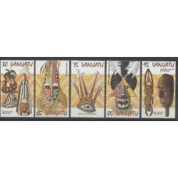 Vanuatu - 1998 - No 1048/1052 - Masques ou carnaval