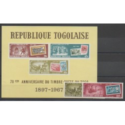 Togo - 1967 - Nb PA84/PA85 - BF28 - Stamps on stamps