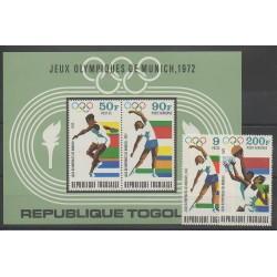 Togo - 1972 - No PA182/PA183 - BF62 - Jeux Olympiques d'été