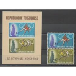 Togo - 1968 - Nb PA97/PA98 - BF32 - Summer Olympics