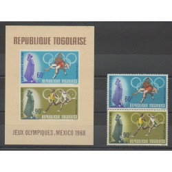 Togo - 1968 - No PA97/PA98 - BF32 - Jeux Olympiques d'été