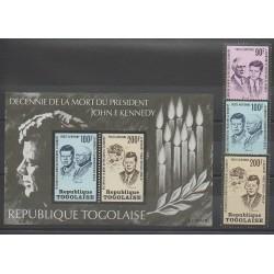 Togo - 1973 - No PA208/PA210 - BF72 - Célébrités