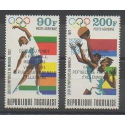 Togo - 1974 - No PA233/PA234 - Coupe du monde de football - Jeux olympiques d'été