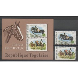 Togo - 1974 - No PA231/PA232 - BF80 - Chevaux - Sports divers