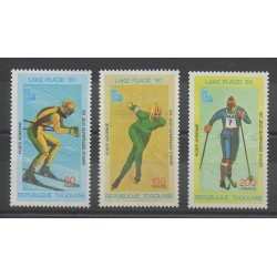 Togo - 1980 - No PA412/PA414 - Jeux olympiques d'hiver