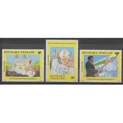 Togo - 1985 - Nb PA561/PA563 - Pope