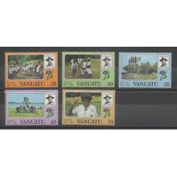 Vanuatu - 1982 - No 657/661 - Scouts