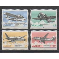 Vanuatu - 1989 - No 826/829 - Avions