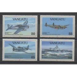 Vanuatu - 1993 - No 911/914 - Seconde Guerre Mondiale - Avions