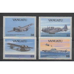 Vanuatu - 1992 - No 883/886 - Seconde Guerre Mondiale - Avions
