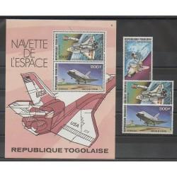 Togo - 1977 - Nb PA328/PA330 - BF110 - Space