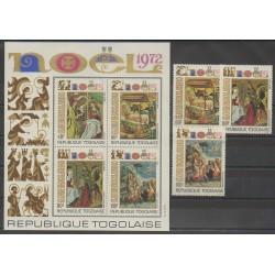 Togo - 1972 - No PA193/PA195 - BF66 - Noël - Peinture