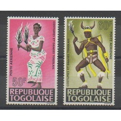 Togo - 1966 - No PA59/PA60 - Costumes Uniformes