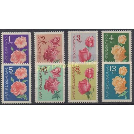 Bulgarie - 1962 - No 1126/1133 - Roses