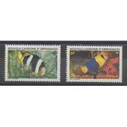 Nouvelle-Calédonie - Poste aérienne - 1984 - No PA236/PA237 - Poissons