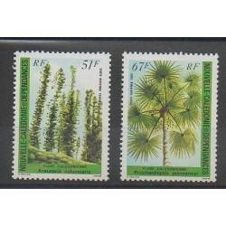 Nouvelle-Calédonie - Poste aérienne - 1984 - No PA238/PA239 - Arbres