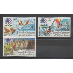 Nouvelle-Calédonie - Poste aérienne - 1984 - No PA240/PA242 - Jeux Olympiques d'été