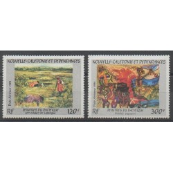 New Caledonia - Airmail - 1984 - Nb PA245/PA246 - Paintings