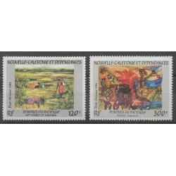 Nouvelle-Calédonie - Poste aérienne - 1984 - No PA245/PA246 - Peinture
