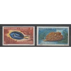 Nouvelle-Calédonie - Poste aérienne - 1965 - No PA77/PA78 - Poissons