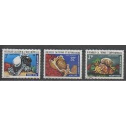 Nouvelle-Calédonie - Poste aérienne - 1974 - No PA150/PA152 - Coquillages