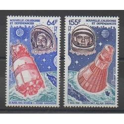 Nouvelle-Calédonie - Poste aérienne - 1981 - No PA212/PA213 - Espace