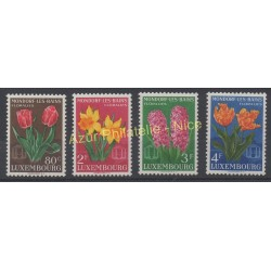 Luxembourg - 1955 - No 490/493 - Fleurs