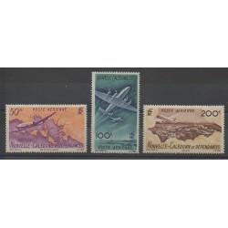 Nouvelle-Calédonie - Poste aérienne - 1948 - No PA61/PA63