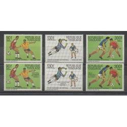 Togo - 1986 - Nb PA607/PA609 - PA614/PA616 - Soccer World Cup