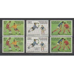 Togo - 1986 - No PA607/PA609 - PA614/PA616 - Coupe du monde de football