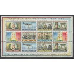 Vanuatu - 1990 - No BF17 - De Gaulle